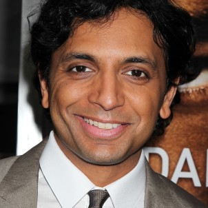 "New York, NY - May 29, 2013: Director M Night Shyamalan at the US Premiere of ""AFTER EARTH"" sponsored in part by Mercedes-Benz at the Ziegfeld Theatre."