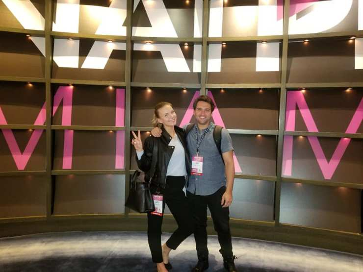 AH and Producer Kate Tumanova at the National Association of Television Program Executives, Miami 2019
